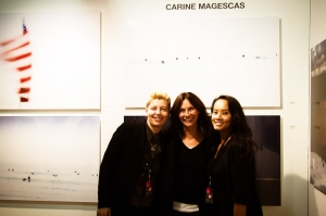 Carine Magescas with her NYC gallerist